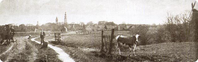 Breeweg te Koudekerke in 1895
